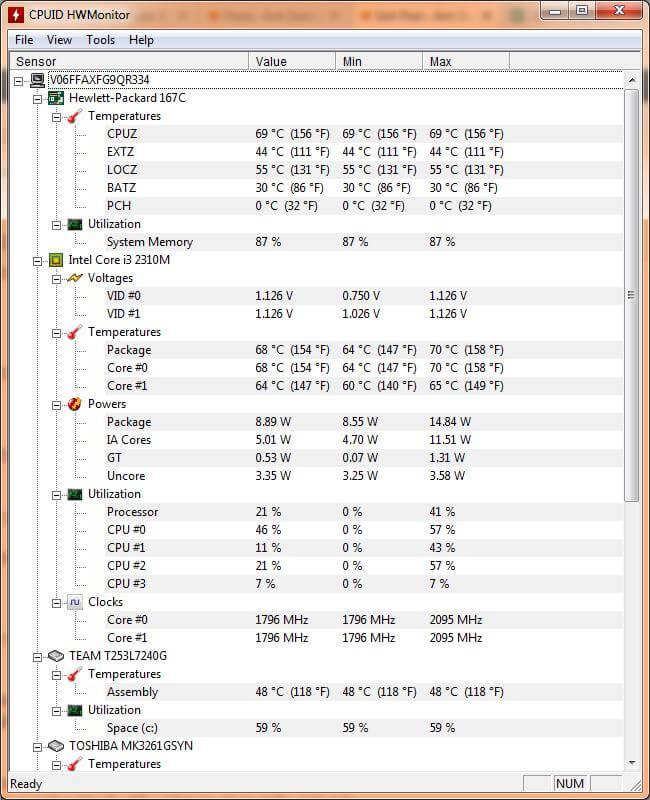 xem nhiệt độ máy, nhiệt độ CPU, nhiệt độ GPU, nhiệt độ ổ cứng, tốc độ các fan.
