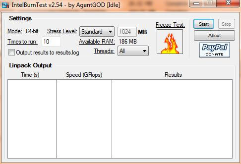 Phần mềm chạy fullload để máy đạt được nhiệt độ cao nhất.